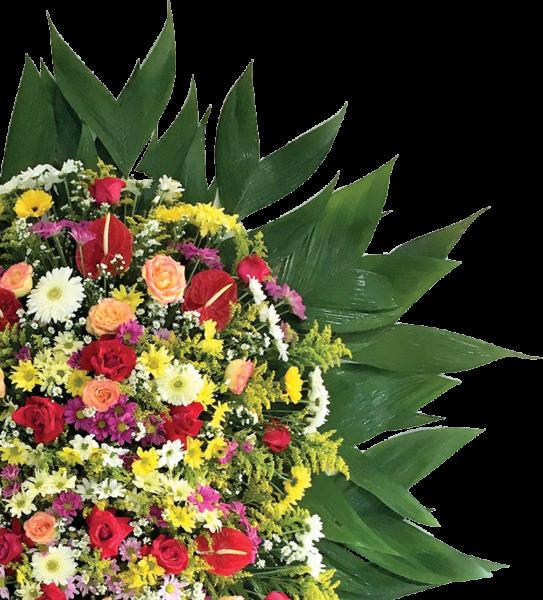 Coroa de Flores - Floriculltura Grupo Unidas